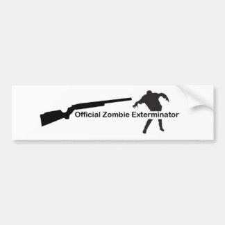 Exterminator del zombi etiqueta de parachoque