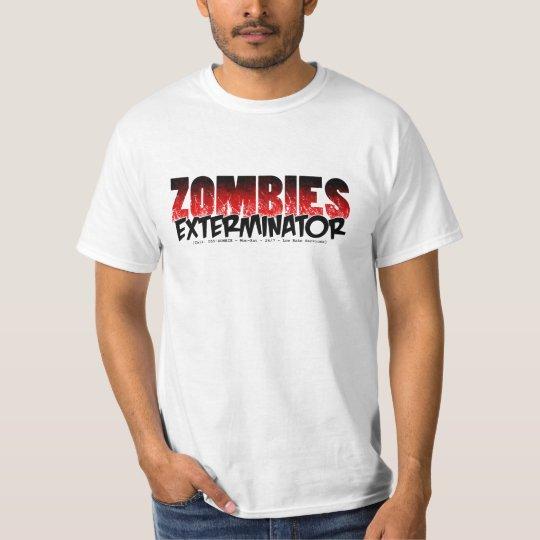 Exterminator del zombi playera