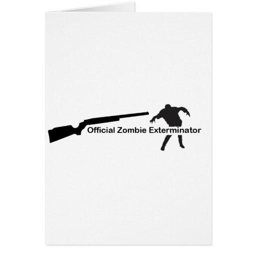 Exterminator del zombi tarjeta de felicitación