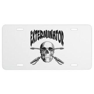 Exterminator License Plate