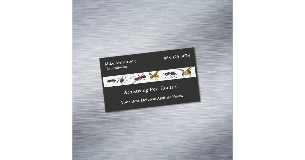 Insects Bugs Business Card Magnet