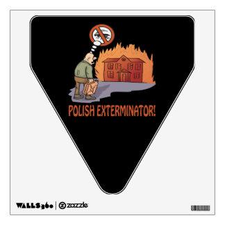 Exterminator polaco vinilo adhesivo