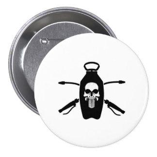 Exterminator Skull Pinback Buttons