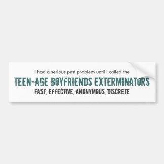 Exterminators adolescentes de los novios pegatina de parachoque