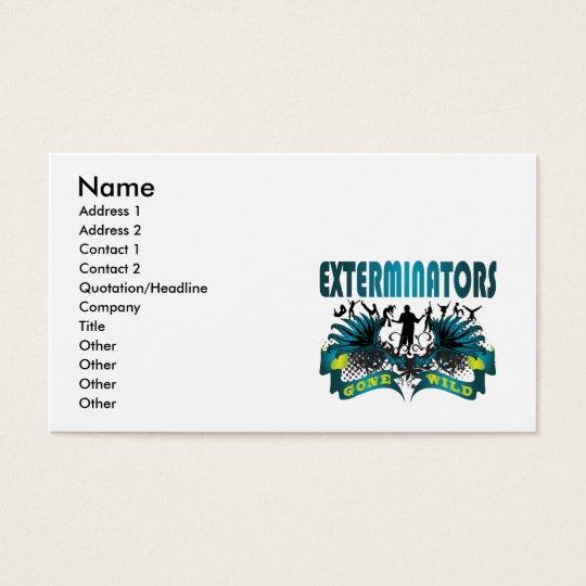 Exterminators Gone Wild Business Card