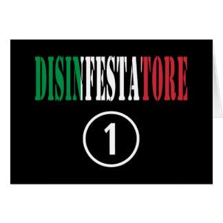 Exterminators italianos: Uno de Disinfestatore Tarjeta Pequeña