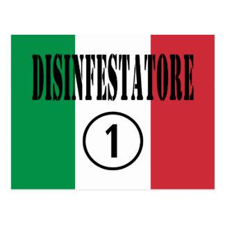 Exterminators italianos: Uno de Disinfestatore Tarjetas Postales