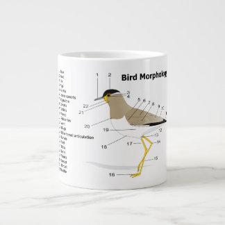 External Morphology of a Bird Vanellus Malabaricus Large Coffee Mug