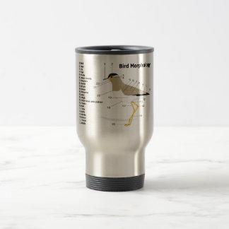 External Morphology of a Bird Vanellus Malabaricus Travel Mug