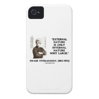 External Nature Is Only Internal Nature Writ Large iPhone 4 Cover