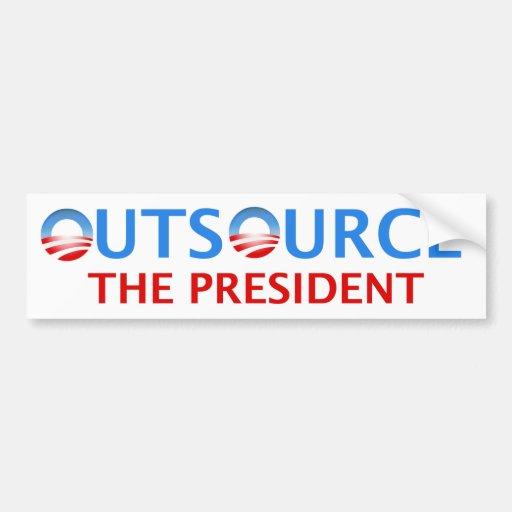Externalice al presidente pegatina para el paracho etiqueta de parachoque