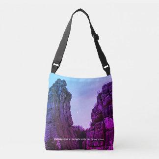 Externsteine in twilight 002.F.04.2.2T Crossbody Bag