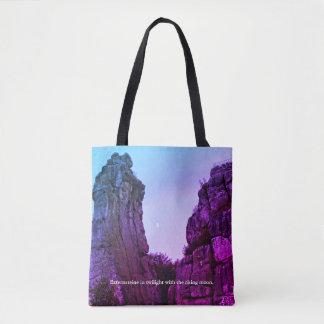 Externsteine in twilight 002.F.04.2T Tote Bag