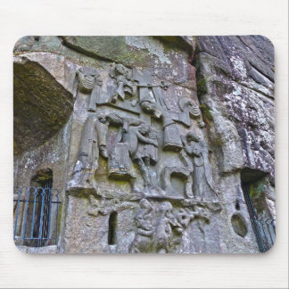 Externsteine, stone carving mouse pad