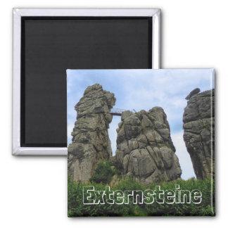 Externsteine, Teutoburg Forest 001.03 2 Inch Square Magnet