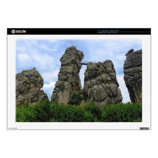 """Externsteine, Teutoburg Forest 17"""" Laptop Decals"""