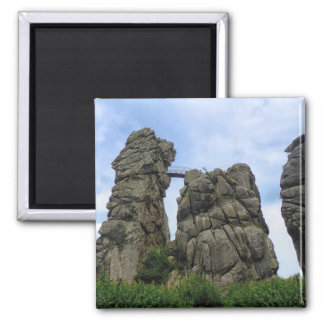 Externsteine, Teutoburg Forest 2 Inch Square Magnet