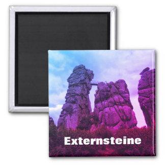 Externsteine, Teutoburg Forest F.002 2 Inch Square Magnet