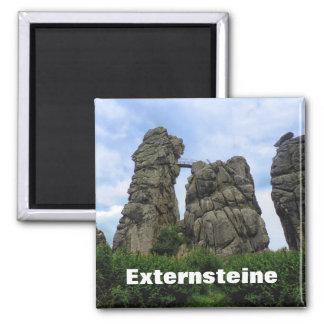 Externsteine, Teutoburg Forest, Germany 2 Inch Square Magnet