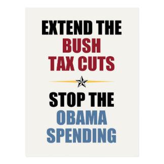 Extienda las reducciones de impuestos de Bush Postal