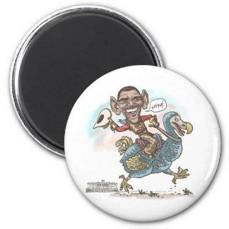 Extinción 2012 del Dodo de Anti-Obama Imán Redondo 5 Cm