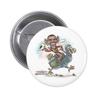 Extinción 2012 del Dodo de Anti-Obama Pin Redondo 5 Cm
