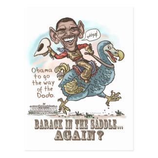 Extinción 2012 del Dodo de Anti-Obama Tarjeta Postal