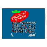 Extinción divertida del dinosaurio tarjeta de felicitación