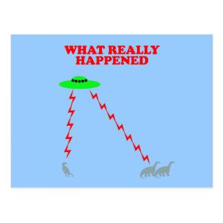 Extinción divertida del dinosaurio tarjetas postales