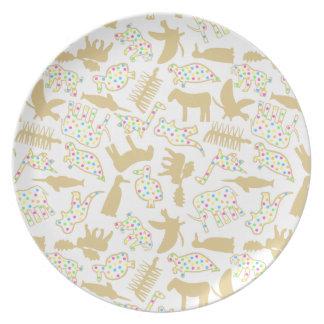 Extinct Animal Crackers Plate