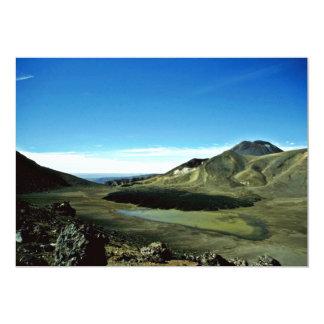 "Extinct Crater Tongariro National Park, North Isla 5"" X 7"" Invitation Card"