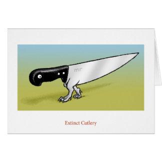 Extinct Cutlery Card