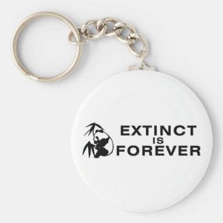Extinct Is Forever Basic Round Button Keychain
