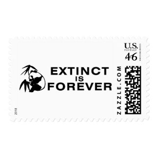 Extinct Is Forever Postage Stamps