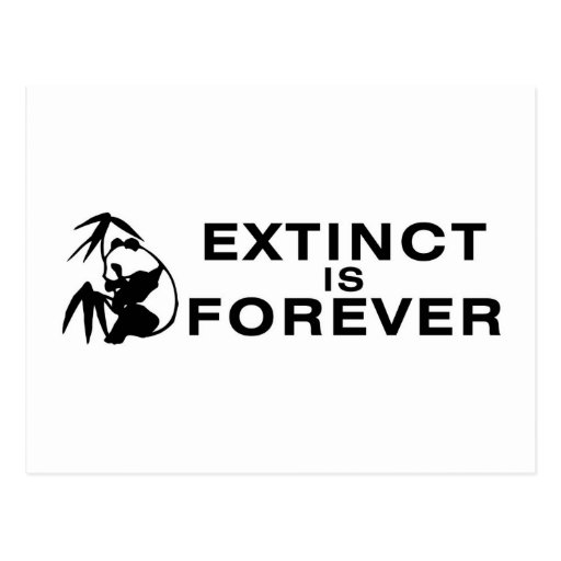 Extinct Is Forever Postcard