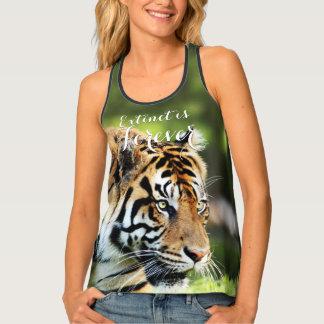 Extinct is Forever Sumatran Tiger Photo Tank Top