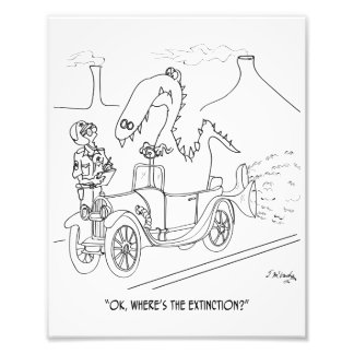 Extinction Cartoon 9325 Photo Print
