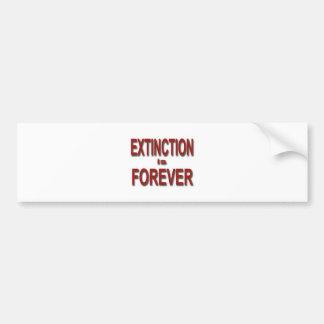 Extinction is Forever Bumper Sticker