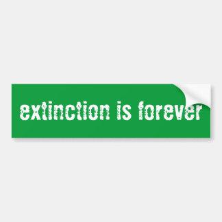 """Extinction is Forever"" Bumper Sticker"