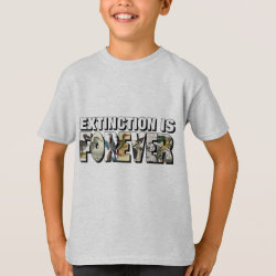 Kids' Hanes TAGLESS® T-Shirt with Extinction Is Forever design