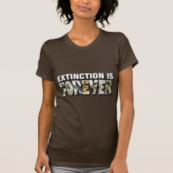 Extinction Is Forever Women's American Apparel Fine Jersey Short Sleeve T-Shirt
