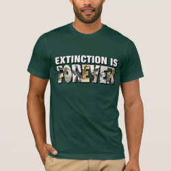 Men's Basic American Apparel T-Shirt with Extinction Is Forever design