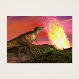 Extinction of dinosaurs - 3D render Business Card