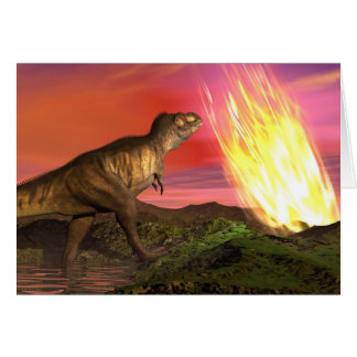 Extinction of dinosaurs - 3D render Card