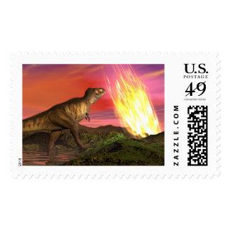 Extinction of dinosaurs - 3D render Postage
