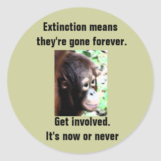 Extinction sticker