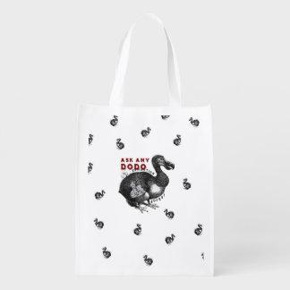 Extinction Sucks Dodo Bird Design #2 Reusable Grocery Bag