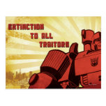 Extinction To All Traitors Postcard