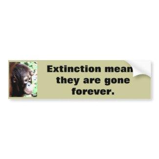 Extinction Wildlife bumper sticker bumpersticker