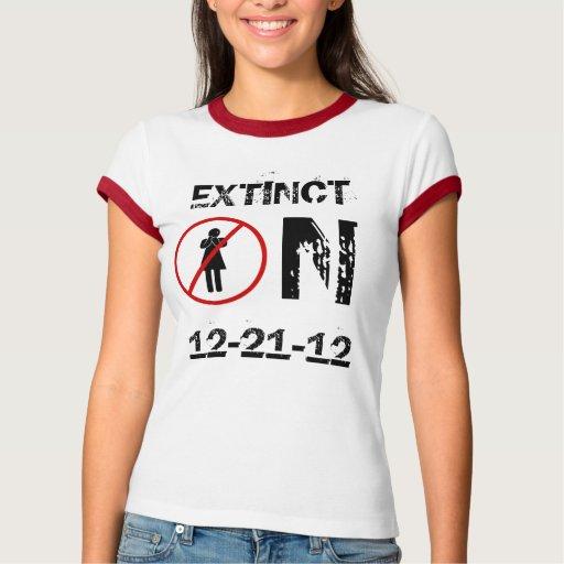 Extinto en 12-21-12 remera